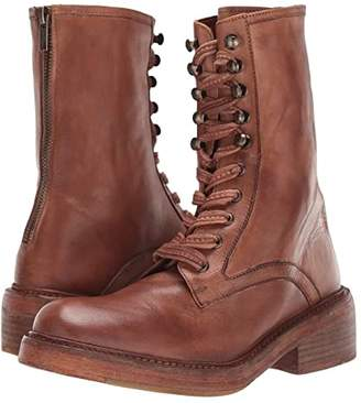 Free People Santa Fe Lace-Up Boot (Taupe) Women's Boots
