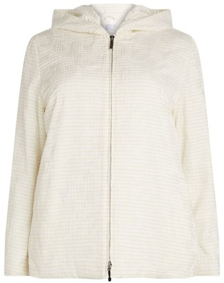Marina Rinaldi Stripe Hooded Raincoat