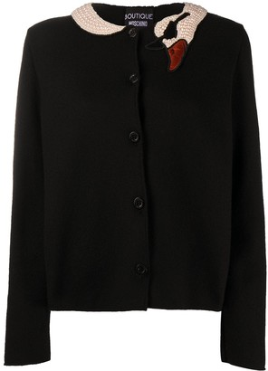 Boutique Moschino Pearl-Embellished Swan Jacket