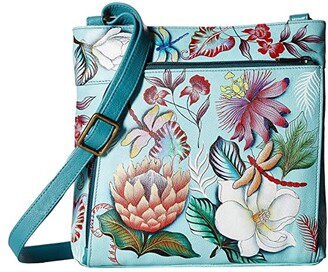 Anuschka 651 Crossbody with Front RFID Built in Wallet