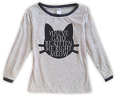 Urban Smalls Light Heather Gray 'You've Gato Be...' Boatneck Top - Toddler & Girls