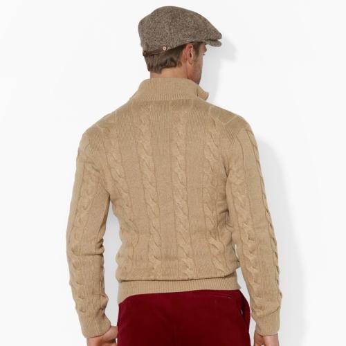 Polo Ralph Lauren Cabled Cashmere-Blend Half-Zip
