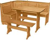 Living HOME Puerto Rico Nook Table & 3 Corner Pine Bench Set