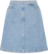 MiH Jeans Decade Denim Mini Skirt - Light blue
