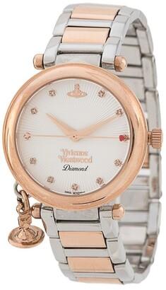 Vivienne Westwood Orb Diamond two-tone watch