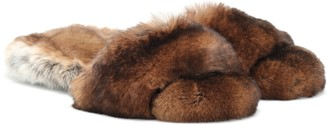 Max Mara Kruger fur slides