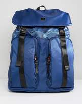 Luke Sport Keegan Double Pocket Backpack In Navy