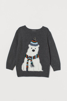H&M Appliqued Sweater - Gray