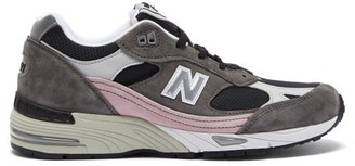 New Balance Made In England 991 Leather Trainers - Grey Multi