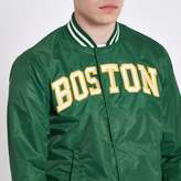 Schott Mens Dark green varsity bomber Jacket