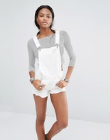 Missguided Distressed Denim Overalls