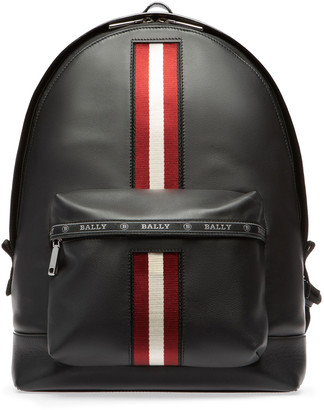 Bally Men's Leather Trainspotting-Stripe Backpack