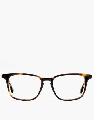 Madewell Felix Gray Nash Blue Light Glasses in Whiskey Tortoise