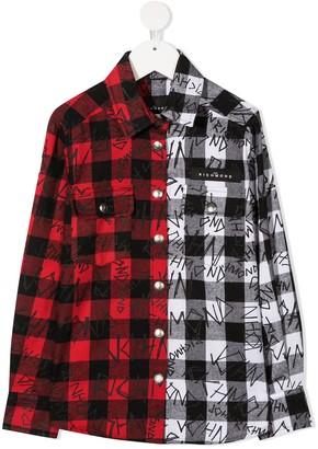 John Richmond Junior Tartan Check Shirt
