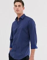 Esprit slim fit stretch shirt with triangle print