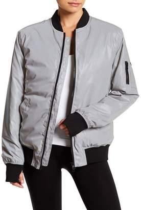 Blanc Noir Ex-Boyfriend Reflective Bomber Jacket