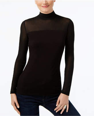 INC International Concepts Inc Mock-Turtleneck Illusion Top
