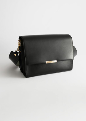 And other stories Duo Tone Leather Crossbody Bag