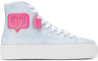 Chiara Ferragni Eyelike glitter high-top sneakers