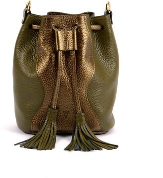 Atelier Hiva Mini Rivus Leather Bag Metallic Brown & Khaki