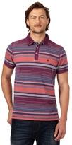 Mantaray Big And Tall Multi-coloured Striped Polo Shirt