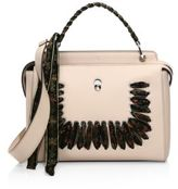 Fendi Dot.com Ribbon-Laced Leather Top Handle Bag