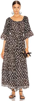 Natalie Martin Mesa Maxi in Palm Tree Black | FWRD