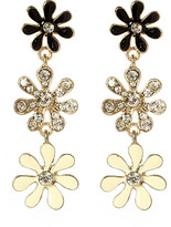 Amrita Singh Women's Earrings Black/Ivory - Black & Ivory Floral Drop Earrings