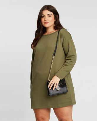 Missguided Curve Off-The-Shoulder Sweat Dress