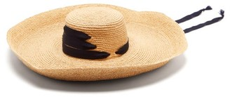 Lola Hats Espartina Grosgrain-trim Raffia Hat - Navy