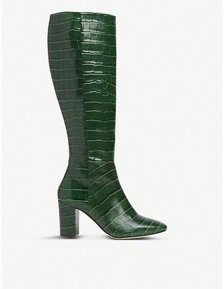 LK Bennett Sirena crocodile-embossed leather ankle boots