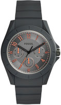 Fossil Men's Poptastic Gray Silicone Strap Watch 44mm FS5221