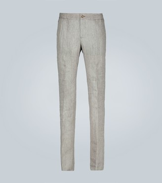Etro Linen drawstring pants