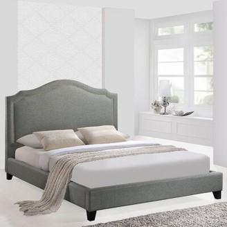 Modway Queen Upholstered Platform Bed Color: Gray