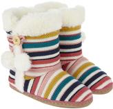 Accessorize Frankie Multi Stripe Slipper Boots