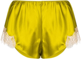 Sainted Sisters Scarlett lace silk shorts