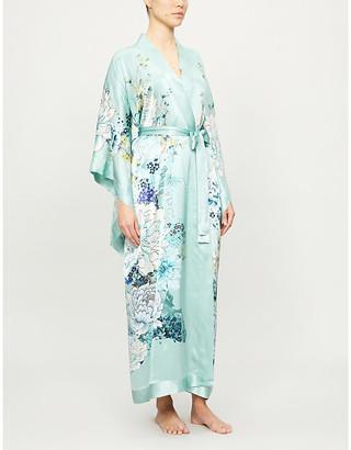 MENG Floral-print silk kimono