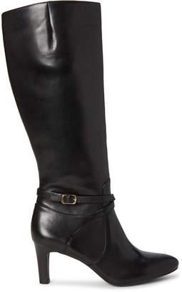 Lauren Ralph Lauren Black Elberta Knee-High Leather Boots