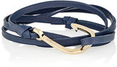 Miansai Men's Hook On Leather Wrap Bracelet-NAVY