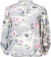 Co kimono sleeve floral print blouse