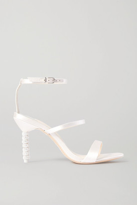 Sophia Webster Rosalind Crystal-embellished Satin Sandals - Ivory