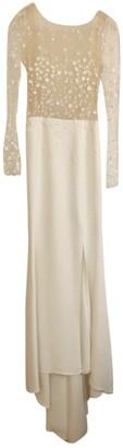 Rime Arodaky White Silk Dress for Women