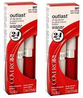 Cover Girl Outlast All Day LipColor Ever Red Dy Pack of 2