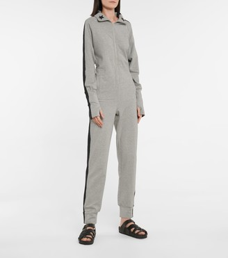 Norma Kamali Star stretch-cotton jersey jumpsuit