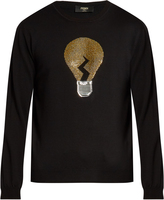 Fendi Light bulb long-sleeved wool sweater