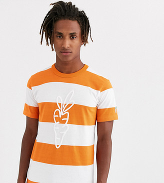 Carrots Signature Carrot striped t-shirt in orange exclusive at ASOS