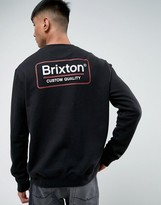 Brixton Sweatshirt With Back Box Logo