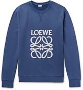 Loewe - Anagram Appliquéd Fleece-back Cotton-jersey Sweatshirt