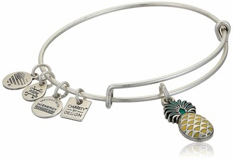 Alex and Ani Replenishment 19 Women's Pineapple Charm Bangle