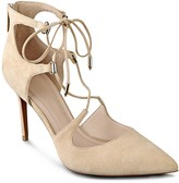 Marc Fisher Toni Pointed Toe Lace Up High Heel Pumps